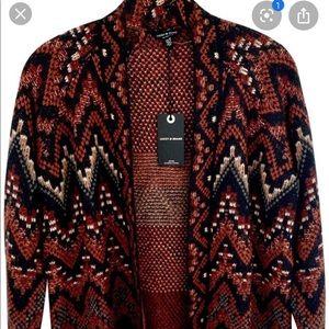 Lucky Brand Sweater Cardigan Long XS Aztec